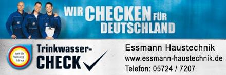 Essmann Haustechnik aus Obernkirchen TrinkwasserCheck Trinkwasser-Check